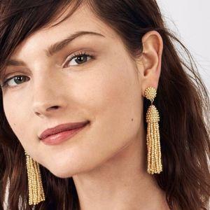 Bauble Bar Gold Piñata Tassel Earrings - Like New